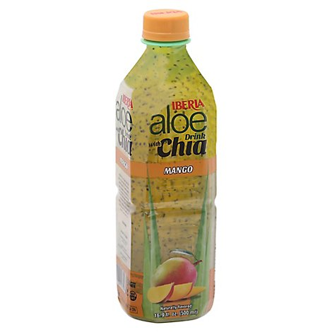 Iberia Aloe Drink With Chia Mango - 16.9 Fl. Oz.