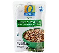 O Organics Brown & Red Rice W/Chia & Kale 90 - 8.8 Oz