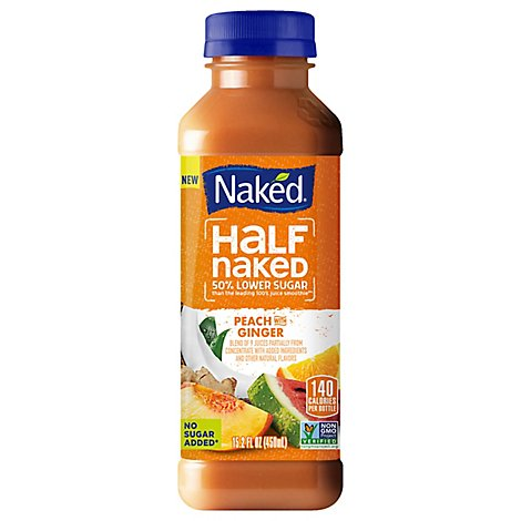 Naked Juice Peach Ginger - 15.2 Fl. Oz.