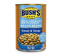 BUSHS Beans Baked Sweet And Tangy Reduced Sugar & Sodium - 15.7 Oz