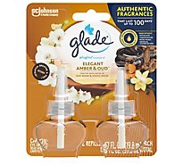 Glade PlugIns Scented Oil Air Freshener Refill Elegant Amber and Oud 2 ct 1.34 oz