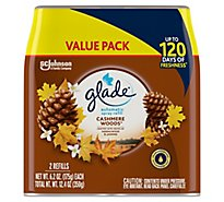 Glade Automatic Spray Refill Cashmere Woods Up to 60 Days of Freshness 12.4 oz Pack of 2