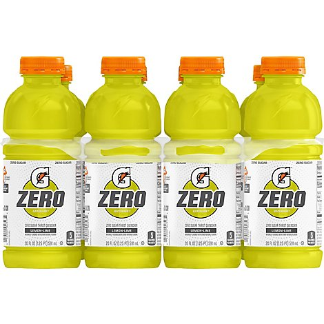 Gatorade Zero Thirst Quencher Zero Sugar Lemon Lime - 8-20 Fl. Oz.