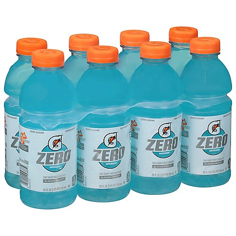 Gatorade Zero Thirst Quencher Zero Sugar Glazier Freeze - 8-20 Fl. Oz.