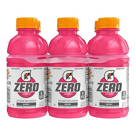 Gatorade G Zero Sugar Berry - 6-12 Fl. Oz.