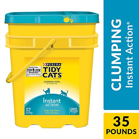 Tidy Cats Scoop Instant Action Pail - 35 Lb