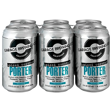 Garage Brewing Co Spiced Coconut Porter In Cans - 6-12 Fl. Oz.