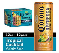 Corona Refresca Variety Pack Mexican Flavored Malt Beverage Cans 4.5% ABV - 12-12 Fl. Oz.