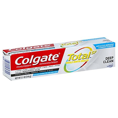 Colgate Total SF Toothpaste Whole Mouth Clean Deep Clean - 5.1 Oz