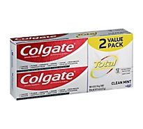 Colgate Total Clean Mint Twin Pack Toothpaste - 2-4.8 Oz