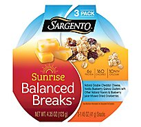 Sargento Sunrise Balanced Breaks Double Cheddar Cheese Quinoa Cranberries - 3-1.45 Oz