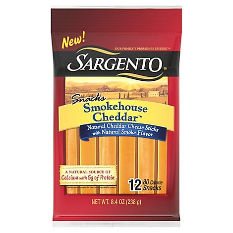 Sargento Snacks Smokehouse Cheddar Stick - 5.6 Oz