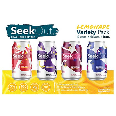 2 Towns Seekout Seltzer Variety Pack 12/12 In Cans - 12-12 Fl. Oz.
