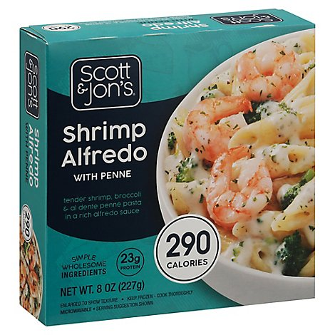 Cheating Grmt Shrimp Bowl Alfredo Pasta - 8 Oz