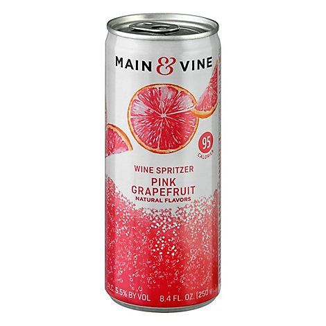 Main & Vine Pink Grapefruit Spritzer Wine - 250 Ml