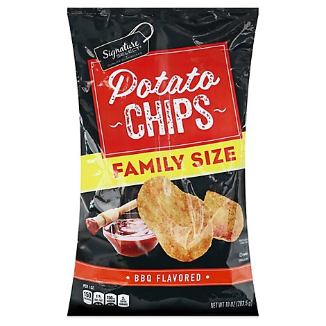 Signature Select Bbq Potato Chips Family Size - 10 Oz