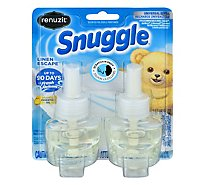 Renuzit Snuggle Scented Oil Plug In Refills Linen Escape 2 Count - 1.34 Fl. Oz.