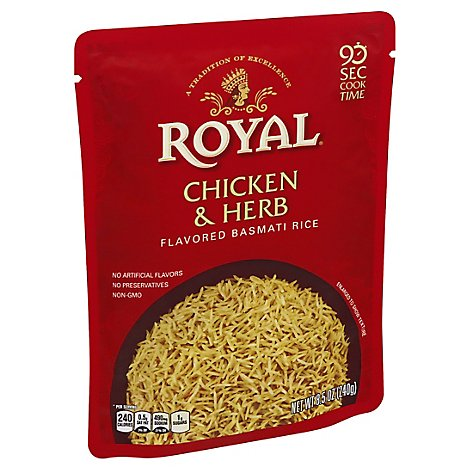 Royal Chicken & Herb Ready To Heat Rice - 8.5 Oz