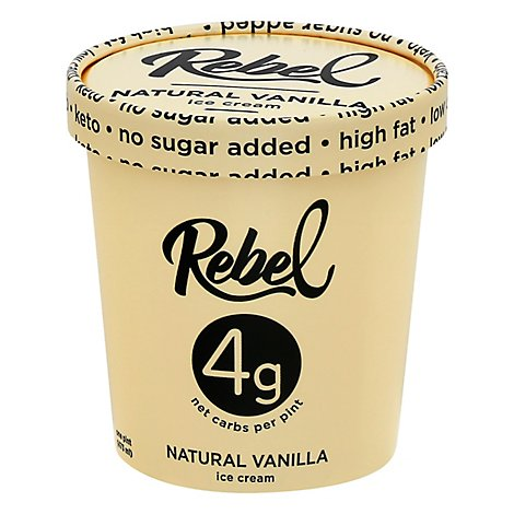 Rebel Ice Ice Cream Vanilla - 1 Pint