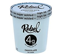 Rebel Ice Ice Cream Chocolate - 1 Pint