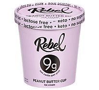 Rebel Ice Ice Cream Pbutter Fudge - 1 Pint