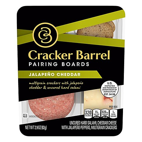 Cracker Barrel Pairing Boards Jalapeno Cheddar - 2.9 Oz