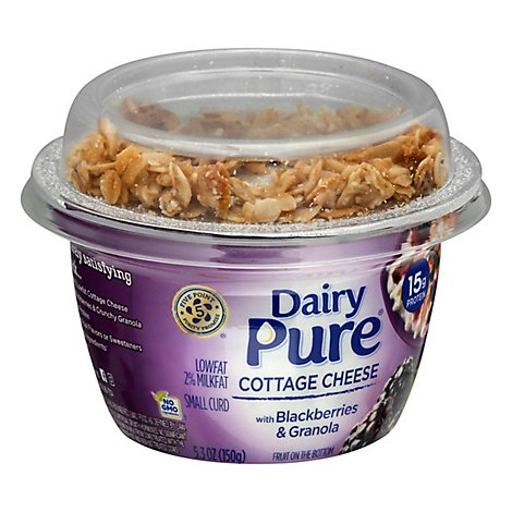 Dairy Pure Mix Ins Cottage Cheese With Blackberries & Granola - 5.3 Oz