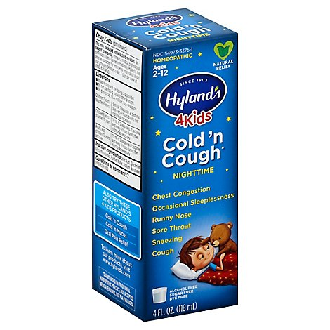 Hylands Kids Cold N Cough Nightime - 4 Fl. Oz.