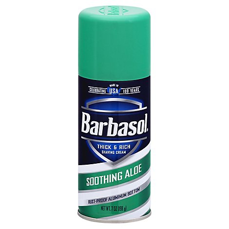 Barbasol Shaving Cream Soothing Aloe - 7 Oz