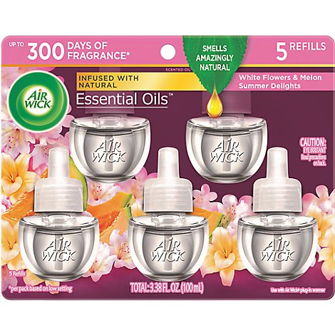 Air Wick Essential Oil Scented Oil Refills Summer Delights - 5-0.67 Fl. Oz.