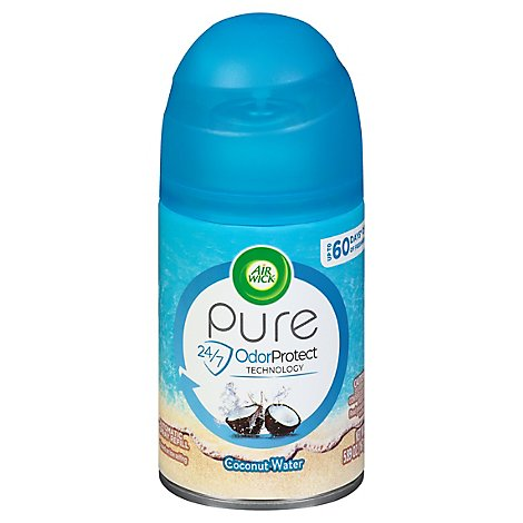 Air Wick Pure Beach Escapes Automatic Spray Refill Florida Keys Coconut Water - 6.17 Oz