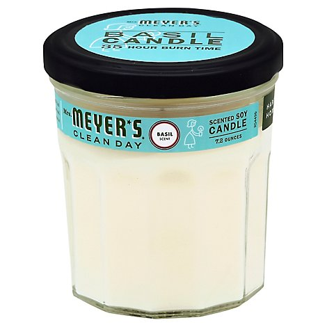 Mrs. Meyers Clean Day Scented Soy Candle Basil Scent 7.2 ounce candle