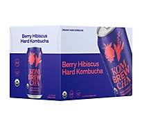 Kombrewcha Hard Kombucha Berry Hibiscus  In Cans - 6-12 Fl. Oz.