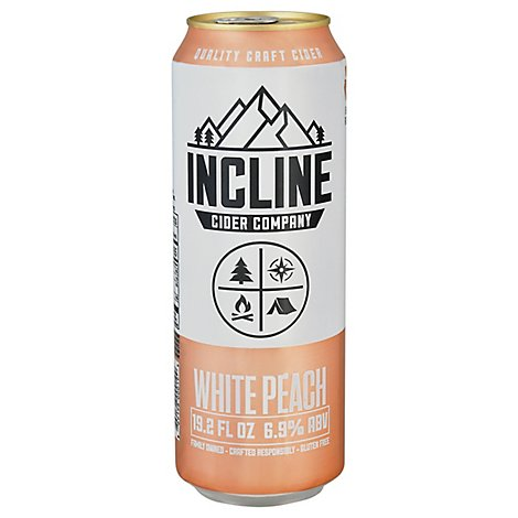 Incline White Peach Cider In Cans - 19.2 Oz