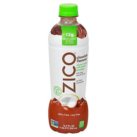ZICO Coconut Water With Protein Beverage Chocolate - 16.9 Fl. Oz.