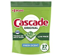 Cascade Dishwasher Detergent ActionPacs Fresh Scent - 37 Count