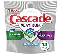 Cascade Platinum Dishwasher Detergent ActionPacs Fresh Scent - 14 count