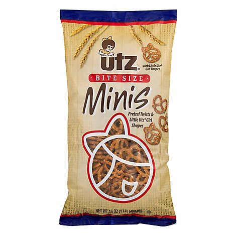 Utz Bite Size Minis With Little Utz Girl Pretzels - 16 Oz