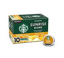 Starbucks Coffee K-Cup Pods Blonde Sunrise Blend Limited Edition Box - 10-0.44 Oz
