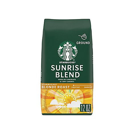 Starbucks Coffee Ground Blonde Sunrise Blend Bag - 12 Oz