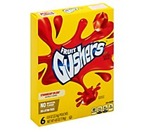 Gushers Fruit Flavored Snacks Strawberry Splash 6 Count - 4.8 Oz