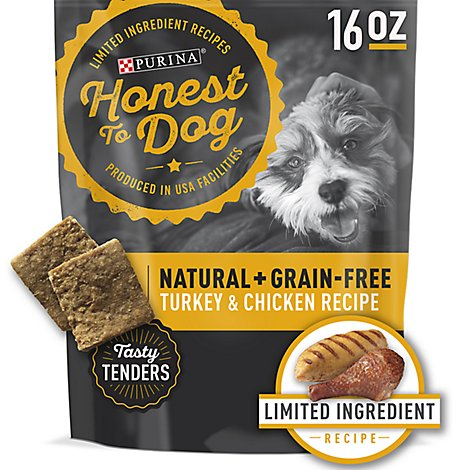 Honest To Dog Treats Turkey & Chicken - 16 Oz
