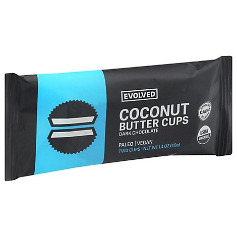 EatingEVOLVED Coconut Butter Cups Dark Chocolate Classic - 1.5 Oz
