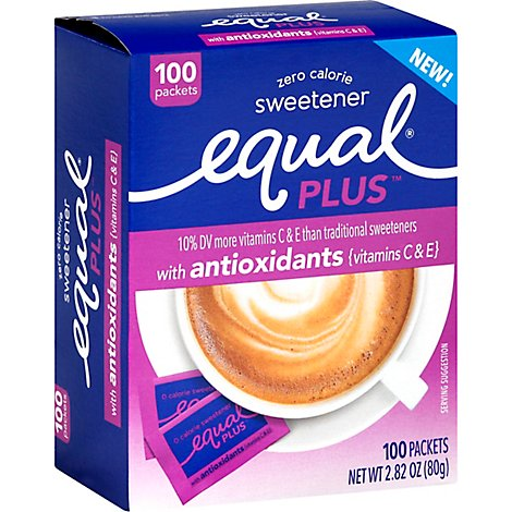 Equal Plus 100 Count Antioxidents Carton - 2.82 Oz