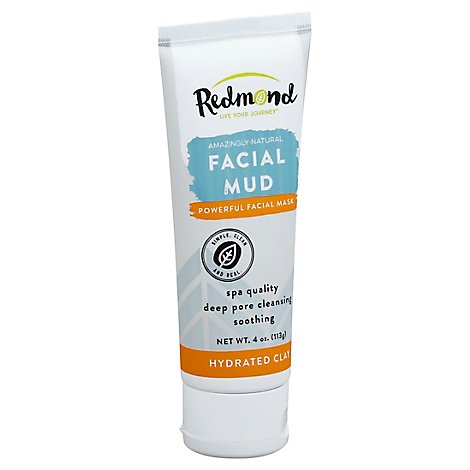 Redmond Facial Mask Facial Mud Hydrated Clay - 4 Oz
