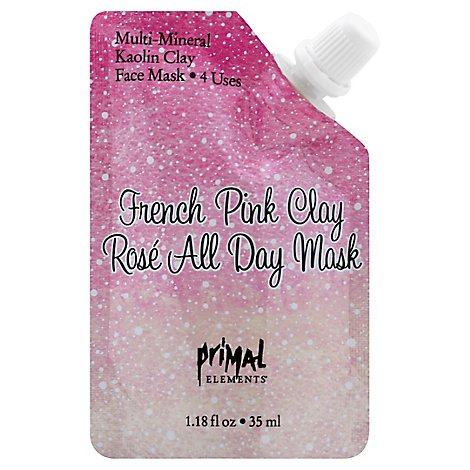 Primal Elements French Pink Rose All Day Face Mask - 1.18 Oz