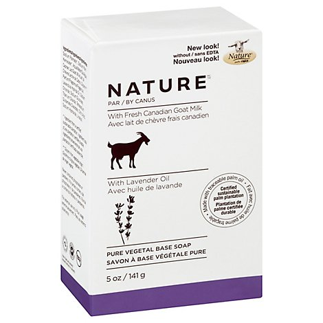 Canus Nature Soap Pure Vegetable With Fresh Goats Milk Lavender Oil - 5 Oz
