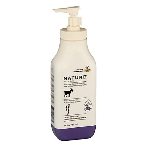 Canus Nature Lotion Moisturizing With Fresh Goats Milk Lavender Oil - 11.8 Oz
