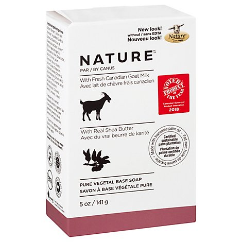Canus Nature Soap Pure Vegetable With Fresh Goats Milk Shea Butter - 5 Oz