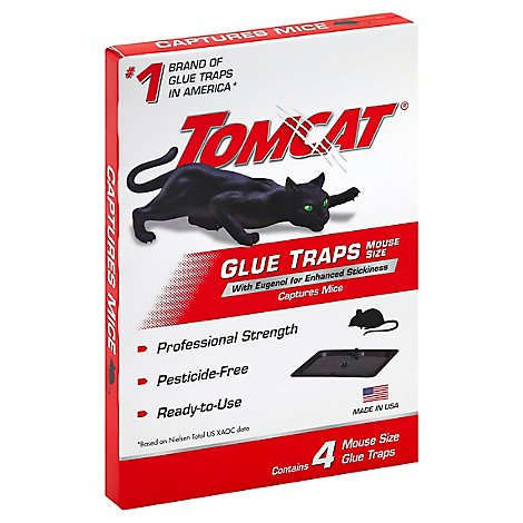 Tomcat Glue Trap Mouse Size - 4 Count